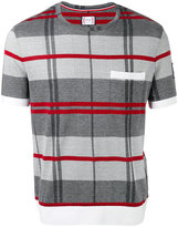Moncler Gamme Bleu check knit T-shirt - men - Cotton - S