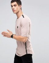 Religion Longline T-Shirt with Ladder Seam Detail
