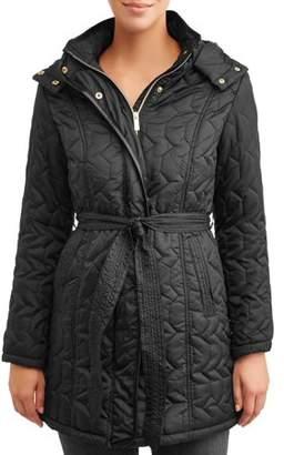 Big Chill Women's Belted Zig-Zag Quilt Jacket