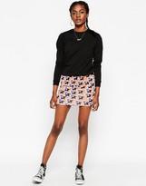 Asos Mini Body-Conscious Skirt in Star Print