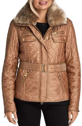 Barbour Icons International Faux Shearling-Trim Motorcycle Jacket