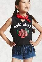 Forever 21 Girls Wild Child Tee (Kids)