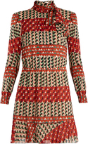 RED Valentino Heart-print silk-blend dress