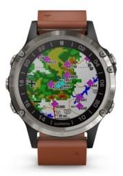 Garmin D2 Delta Premium Gps Aviator Watch in Brown