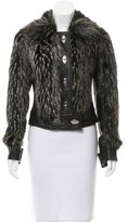 Rachel Zoe Faux Fur Leather Coat