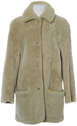 Hermes Beige Leather Coats