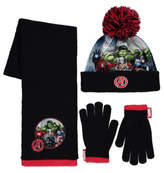 George Marvel Avengers 3 Piece Hat, Scarf and Gloves Set