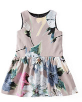Milly Minis Sleeveless Paper Floral Party Dress, Petal, Size 8-14