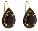 Alison Lou Lab-onyx, Enamel And 14kt Gold Drop Earrings - Womens - Black