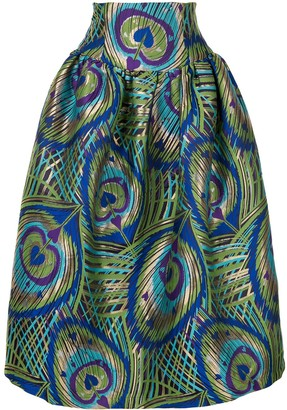 Manish Arora Psychedelic Heart Print Skirt