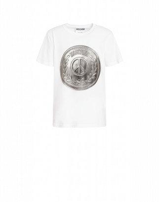 Moschino Jersey T-shirt Man White Size 44 It - (34 Us)