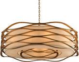 John-Richard Collection Ribbons 12-Light Pendant, Gold Leaf