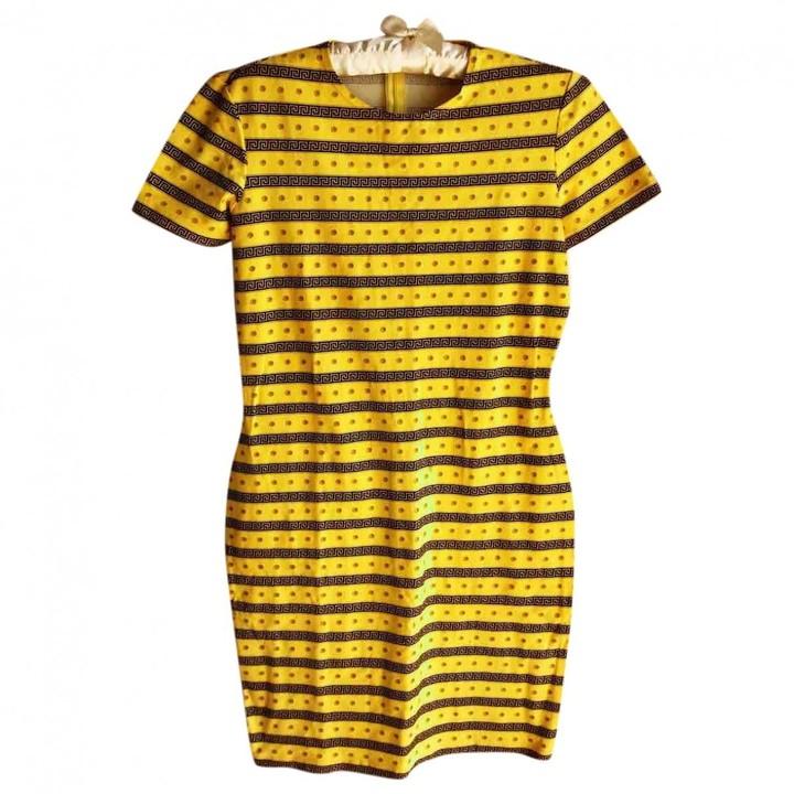 Gianni Versace Yellow Cotton Dress for Women Vintage