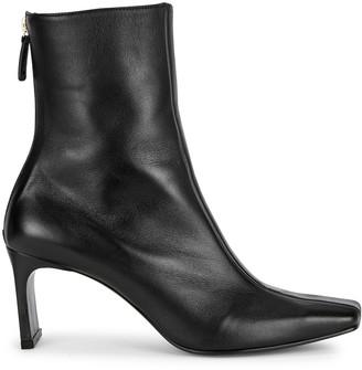 Reike Nen Trim 80 black leather ankle boots
