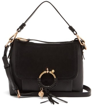 See by Chloe Joan Small Leather And Suede Cross-body Bag - Black
