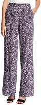 BCBGeneration High-Rise Floral-Print Pants, Red Pattern
