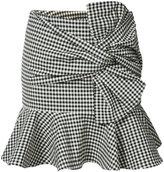 Veronica Beard gingham ruffle miniskirt - women - Cotton/Elastodiene - 0