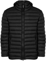 C.p. Company Goggle Black Quilted Shell Jacket