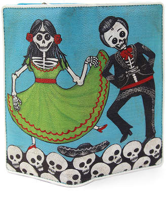 Sleepyville Critters Women's Wallets BLUE - Blue Dancing Skeletons Wallet