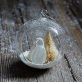 west elm Penguin Globe Ornament