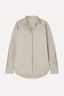 Totême Lago Oversized Cotton-poplin Shirt - Gray