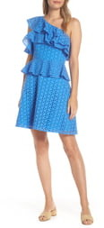 Lilly Pulitzer Josey Eyelet One-Shoulder Dress