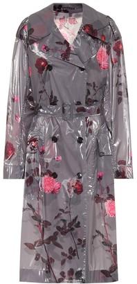 Dries Van Noten Floral laminated trench coat