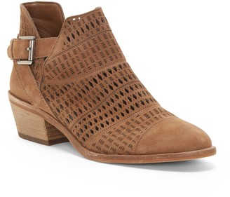 Vince Camuto Paavani Perforated Buckled Ankle Boot