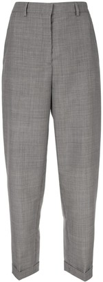 Rochas dogtooth cropped trousers