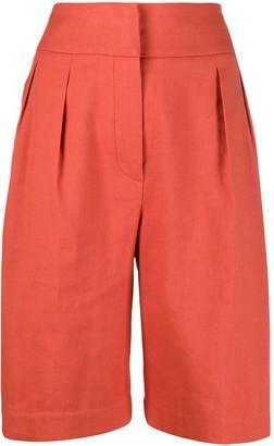 Brunello Cucinelli high-waisted knee shorts