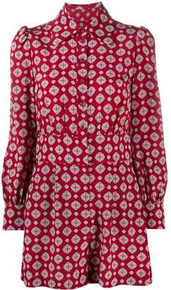 MICHAEL Michael Kors Geometric-Print Silk Playsuit