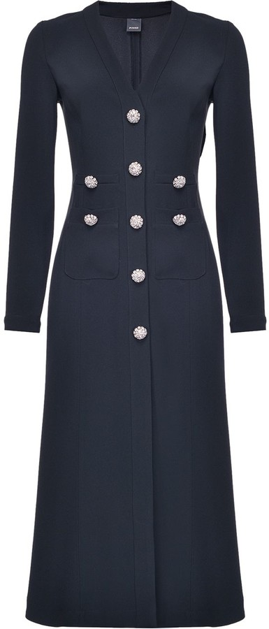 Pinko Studded Button Multi-Pocket Dress