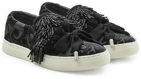 Marc Jacobs Mercer Pompom Embellished Sneakers