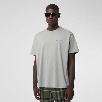 Burberry Slogan Print Cotton Oversized T-shirt
