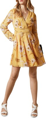 Ted Baker Posyy Cabana Long Sleeve Mini Dress
