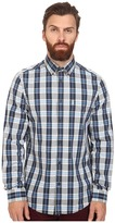 Ben Sherman Long Sleeve Marl Dobby Poplin Check Woven