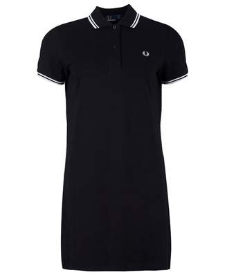 Fred Perry Authentics Twin Tipped Pique Logo Polo Dress Colour: BLACK,