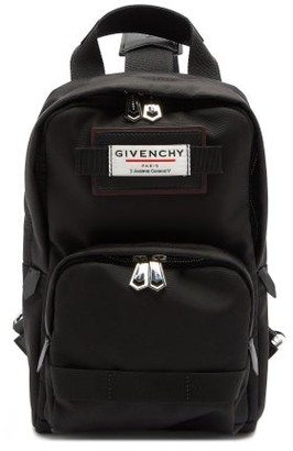 Givenchy Downtown Logo Patch Cross Body Backpack - Mens - Black