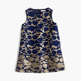 J.Crew Girls' A-line dress in reverse metallic jacquard