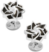 Cufflinks Inc. Black Geometric Flower Cuff Links