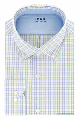 Izod Men's Tall Dress Shirt Big Fit Stretch Cool FX Check