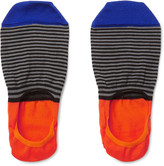 Paul Smith - Striped Mercerised Cotton-blend No-show Socks