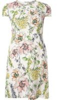 Dorothy Perkins Womens Petite White Floral Tea Dress- White