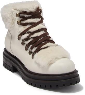KG by Kurt Geiger Regent Faux Fur Trim Lace Boot