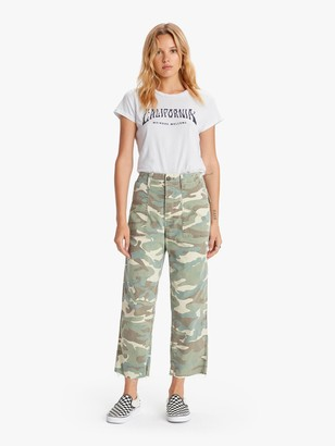 Mother Patch Pocket Private Ankle Fray - Camouflage