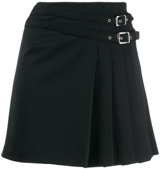 Alberta Ferretti pleated side mini skirt