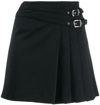 Alberta Ferretti Pleated Side Mini Skirt