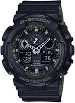 G-Shock Men's Analog-Digital Black Resin Strap Watch 51x55mm GA100L-1A