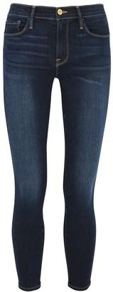 Frame Le Skinny De Jeanne Crop dark blue jeans