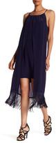 Trina Turk Kearney Fringe Overlay Silk Shift Dress